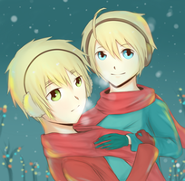 :Winter USUK: by HanaXYuki