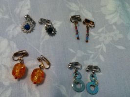 Four Pairs of Earrings by stopthattimerave