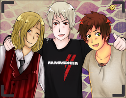 APH: Bad Friends Trio! by Jaskierka