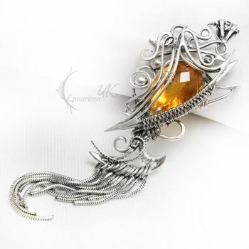 NEEITILR Silver and Citrine. by LUNARIEEN