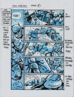 IDW TMNT One Page Five by Kevineastman