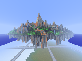 Minecraft Angel Island from Sonic 3 And Knuckles by lukethefluke7