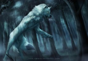 Fighting with the rain - Commission by Nereiix
