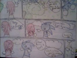 Sonic Picks a Fight page 1 by craZ4knux