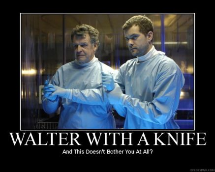 FRINGE - Walter With A Knife by Timekeeperxx