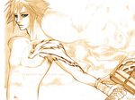 cloud strife:commission by kika1983