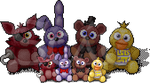 FNaF Dolls for Furcadia by AnScathMarcach