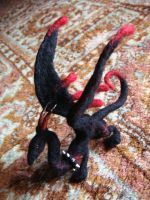 Goth Needle Felted Dragon 2 by Projectsubvert