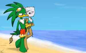 birds on the beach by Sandwich-Anomaly