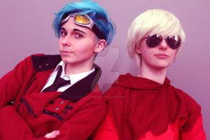 The Cosplaying Duo by darthbriboy
