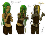 Commission: Zombie Dryad by JZLobo