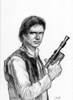 Han Solo Sketch Card by Stungeon