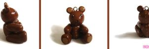 Brown Teddy Bear Charm by mAd-ArIsToCrAt