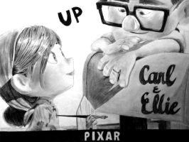 PIXAR's UP Carl and Ellie by J-a-c-q-u-e-s