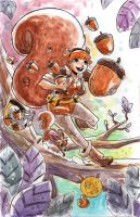 Watercolor: Squirrel Girl by mikemaihack
