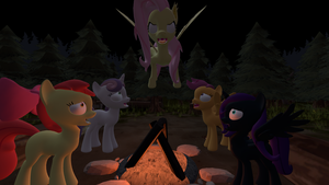 Campfire trouble by Fullmoonrose7