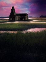 Premade Church Lake Background by KarahRobinson-Art