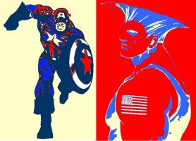 Captain America and Gulie Pop Art by TheGreatDevin