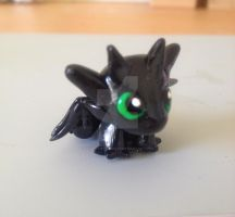 Side view of Toothless by xlightangelwolfx