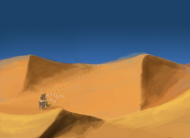 Through the Western Desert by MetalPonyFan
