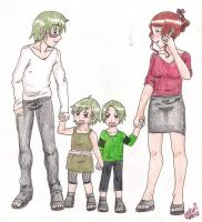 Hideaki and family by shock777