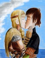 Hiccup and Astrid (HTTYD2) by Taipu556