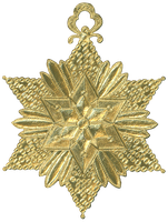 German Dresden Gold Paper Medallion Ornament 8 by EveyD