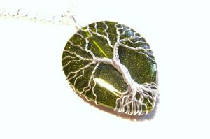 Fresh Leaves of Spring Tree of Life Pendant by LoneWolfjewelry