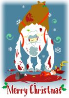 When yeti ate claus by JonRichardson