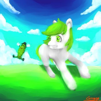Green Friends [contest entry] by gogogoANGEL