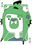 Adventure Time Style Pittaro - Ace of Clovers by catiniata