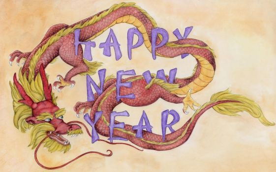 New Year Dragon by EllenStration