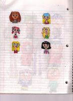 Total Drama's Cuties by MyLittleSquirrelGirl