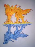 Tattoo: Fire and Ice by Kipachie