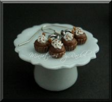 Mini-Cupcake Earrings by ToothFairyMiniatures