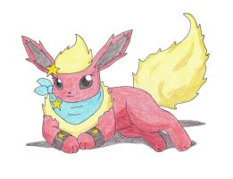 FA - Flara the Flareon by Sir-Genesis