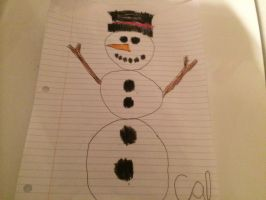 Christmas snowman by Callewis2
