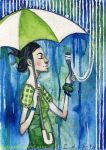 ACEO 21 - Mrs. April and... by HylianDragonCatty
