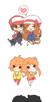 Mini Chibi Couples by xephia