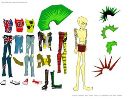 Johnny Napalm Paper Doll by after-the-funeral