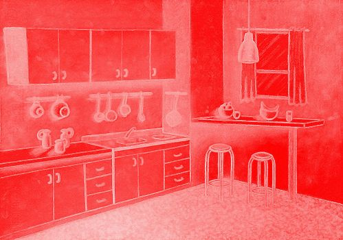 interior rojo by LAUREANORAVER