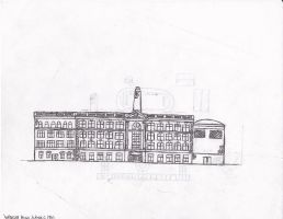Wright High School, Front Elevation by Andreasantoni