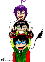 ID- Mephisto, Me and Oncie by KatzuXD
