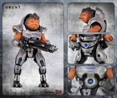 Grunt action figure card by shatinn