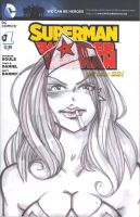 SKETCH COVER Superman/Wonder Woman by jasinmartin