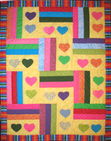Parade of Hearts Quilt by CyberSunbeam