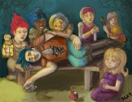 Boy White and the 7 Gnomes by dreamling