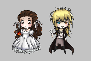 Labyrinth chibis by Airafleeza