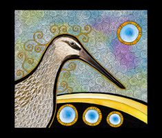 Asiatic Dowitcher as Totem by Ravenari