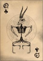 Queen of clubs by shadothezombie